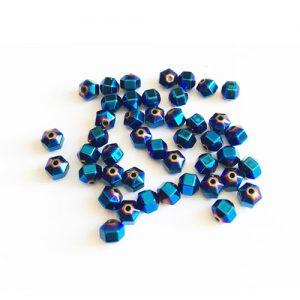 سنگ حدید تراش خورده آبی 5mm بسته 45 عددی