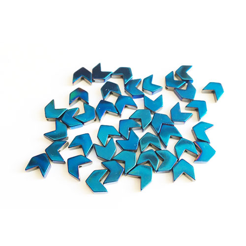 سنگ حدید طرح فلش آبی 6x6mm بسته 45 عددی