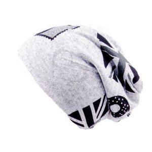 کلاه اسکارف طرح دار پشمی SCH1004