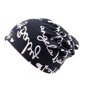 کلاه اسکارف طرح دار پشمی SCH1006