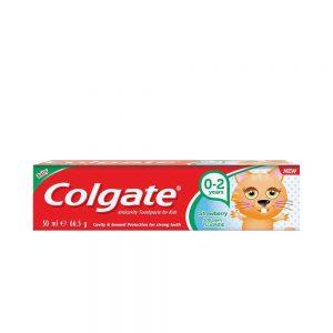 خمیر دندان کودک colgate کلگیت توت فرنگی 0تا2 سال 65 گرم