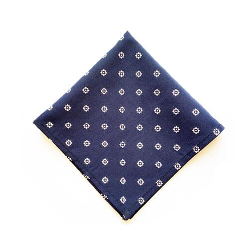 دستمال جیب سورمه ای طرح دار PSH1163