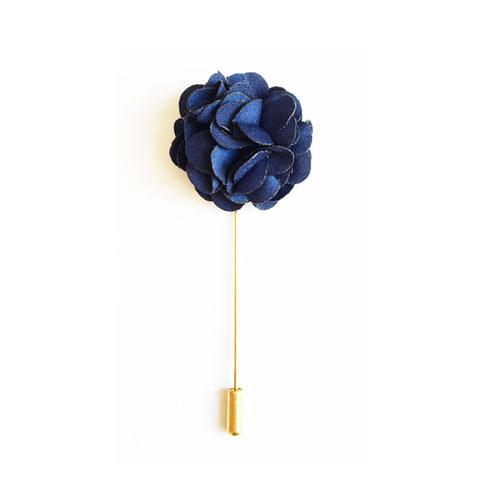 سنجاق کت آبی طرح گل BR1099