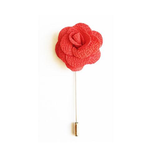 سنجاق کت قرمز طرح گل BR1098