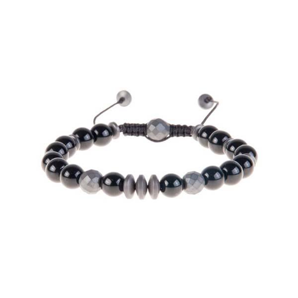 دستبند سنگی نگین دار مردانه PM1017