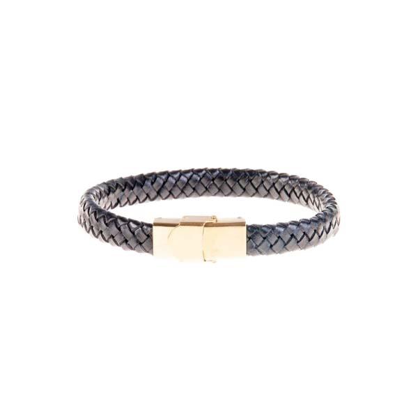 دستبند چرمی فلزی مردانه MM1009