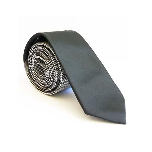 کراوات مشکی مردانه طرح دار t1136