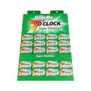 تیغ یدک ژیلت مدل 7oclock پک 100 عددی