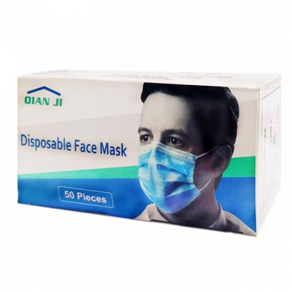 ماسک سه لایه خارجی وارداتی دوخت التراسونیک 50 عددی