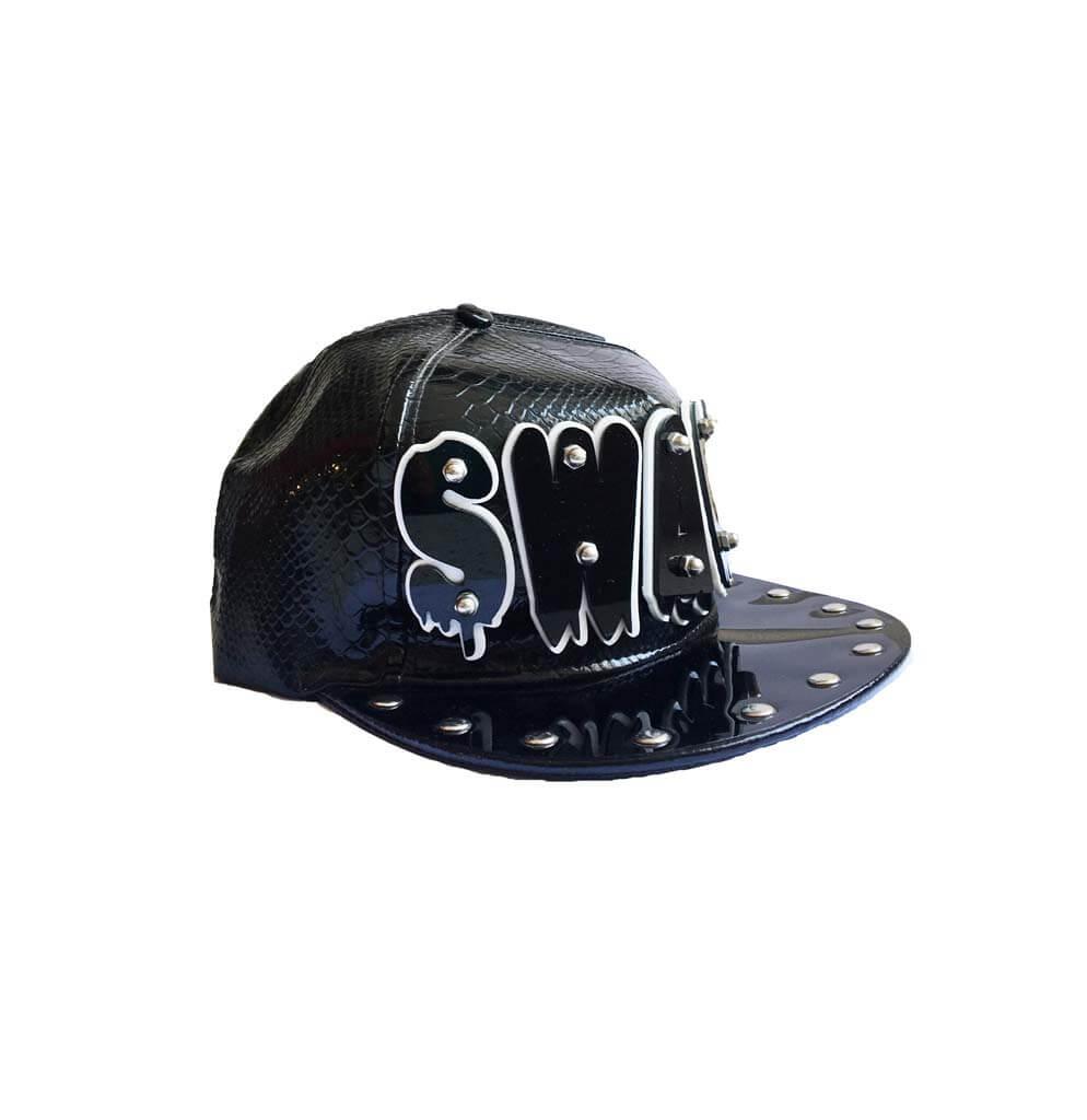 کلاه کپ مشکی مردانه طرح دار کد BC1008