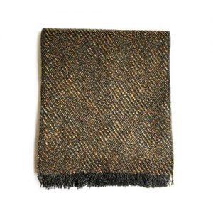 شال گردن بافت دار قهوه ای مردانه SH1016