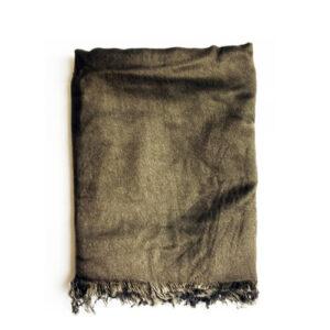 شال گردن قهوه ای ساده مردانه SH1022
