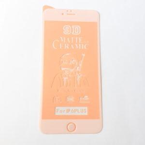 گلس محافظ صفحه نمایش سرامیکی مات 9D اپل مدل 6s پلاس سفید