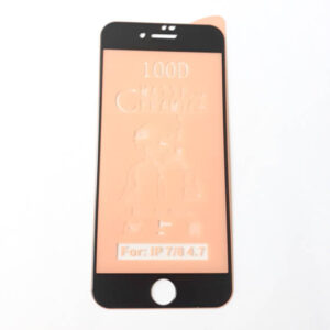 گلس محافظ صفحه نمایش سرامیکی مات 9D اپل مدل SE مشکی